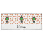 Personalized name witch orange pumpkins tyvek® billfold wallet