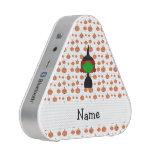 Personalized name witch orange pumpkins speaker