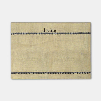 Personalized Name with Old Train Track look Post-it® Notes