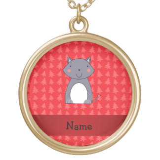 Personalized name wolf red christmas trees custom jewelry