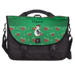 Personalized name woodpecker green candy canes bow laptop computer bag