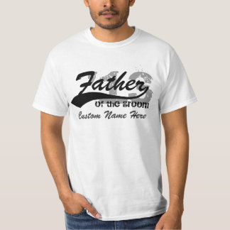 Personalized Name & Year Father of the Groom Shirt