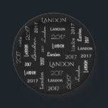 "Personalized Name &amp; Year Graduation Paper Plate<br><div class=""desc"">An elegant black and white paper plate with the grad&#39;s name and graduation year in cool and beautiful fonts.</div>"