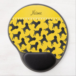 Personalized name yellow affenpinscher dogs gel mouse pad