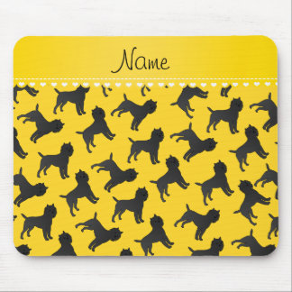 Personalized name yellow affenpinscher dogs mouse pad