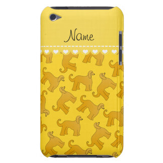 Personalized name yellow afghan hound dogs iPod Case-Mate case