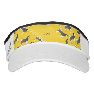 Personalized name yellow alaskan malamute dogs headsweats visor