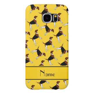 Personalized name yellow american foxhound dogs samsung galaxy s6 cases