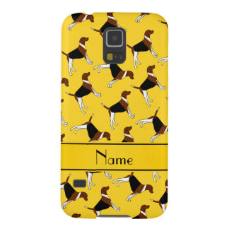 Personalized name yellow american foxhound dogs case for galaxy s5