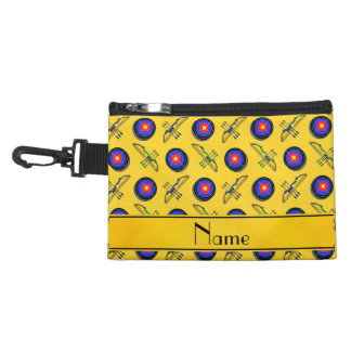 Personalized name yellow archery accessory bags