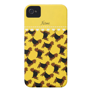 Personalized name yellow australian terrier dogs iPhone 4 covers