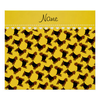 Personalized name yellow australian terrier dogs poster