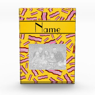 Personalized name yellow bacon pattern awards