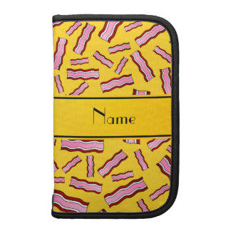 Personalized name yellow bacon pattern planners