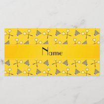 Personalized name yellow badminton pattern