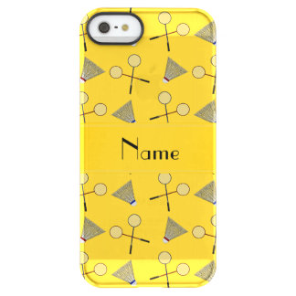 Personalized name yellow badminton uncommon permafrost® deflector iPhone 5 case