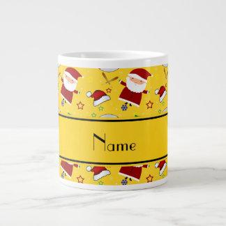 Personalized name yellow baseball christmas 20 oz large ceramic coffee mug