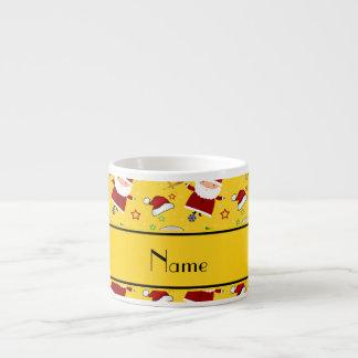 Personalized name yellow baseball christmas 6 oz ceramic espresso cup