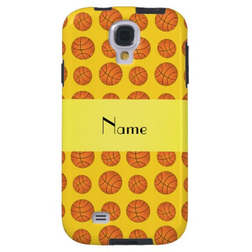 Personalized name yellow basketballs