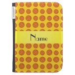 Personalized name yellow basketballs cases for kindle