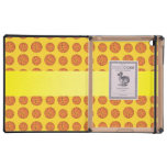Personalized name yellow basketballs iPad covers