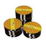 Personalized name yellow basketballs poker chips set