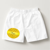 Personalized name yellow bicycle pattern boxers