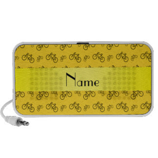 Personalized name yellow bicycle pattern mp3 speaker