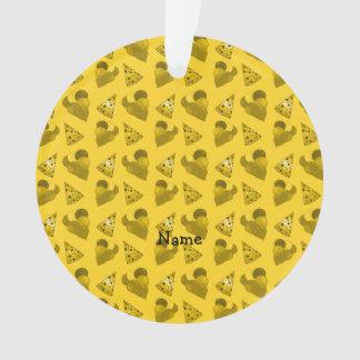Personalized name yellow birthday pattern