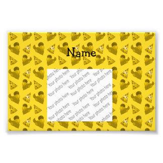 Personalized name yellow birthday pattern photo art