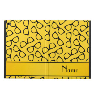 Personalized name yellow black glasses powis iPad air 2 case