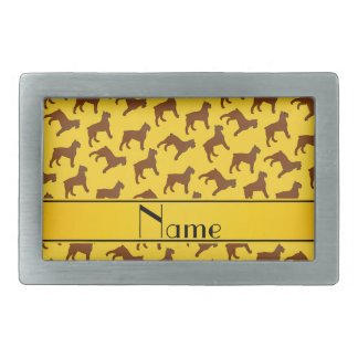Personalized name yellow Bouvier des Flandres dogs Belt Buckles