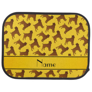 Personalized name yellow brussels griffon dogs car floor mat