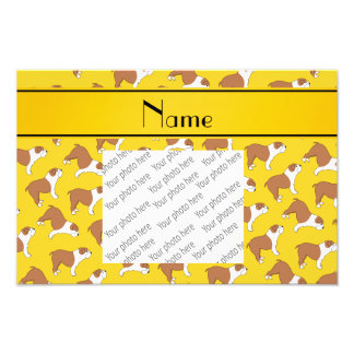 Personalized name yellow Bulldog Photo Print