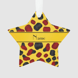 Personalized name yellow checkers game