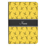 Personalized name yellow cheerleader pattern kindle 4 case