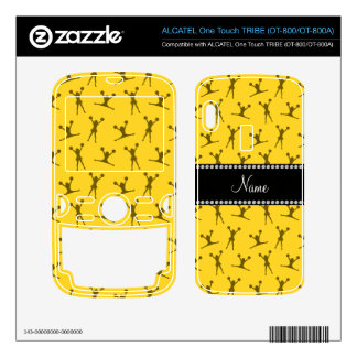 Personalized name yellow cheerleader pattern ALCATEL tribe skin