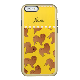 Personalized name yellow chow chow dogs incipio feather shine iPhone 6 case