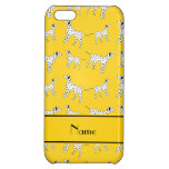 Personalized name yellow dalmatian dogs iPhone 5C cover