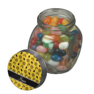 Personalized name yellow dreamcatchers glass jars