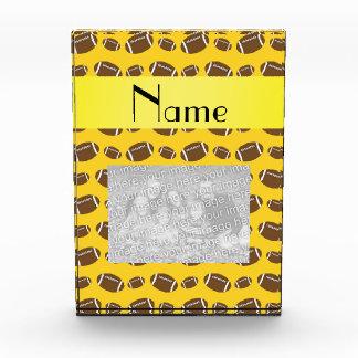 Personalized name yellow footballs award
