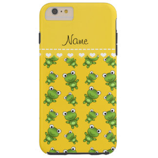 Personalized name yellow frogs tough iPhone 6 plus case
