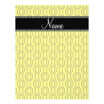 Personalized name yellow geometric diamonds full color flyer