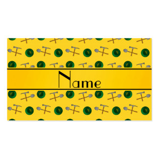 Personalized name yellow gold mining Double-Sided standard business cards (Pack of 100)