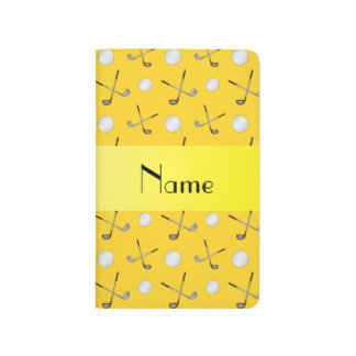 Personalized name yellow golf balls journal