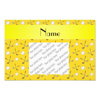 Personalized name yellow golf balls photograph