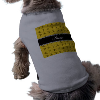 Personalized name yellow gymnastics pattern dog clothes