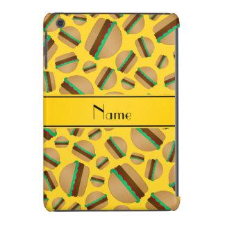 Personalized name yellow hamburger pattern iPad mini retina case