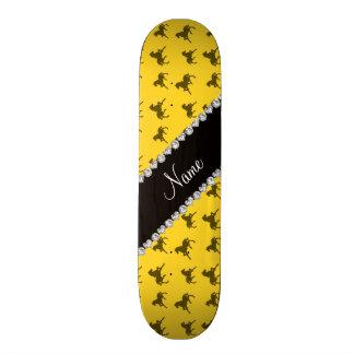 Personalized name yellow horse pattern skateboard decks