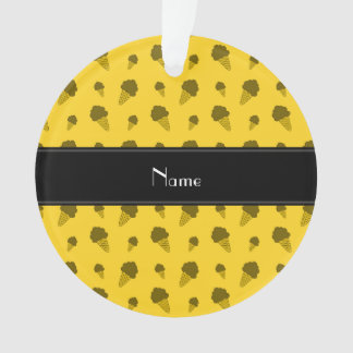 Personalized name yellow ice cream pattern